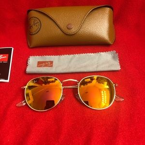 Ray-Ban Round Orange Unisex Sunglasses